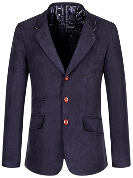 Ericdress Notched Lapel Plain Single-Breasted Casual Men's Blazer
