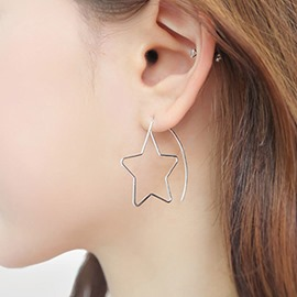 Ericdress Alloy Five-Pointed Star Design Earrings