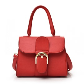 Ericdress Korean Solid Color Car Suture Lock Handbag