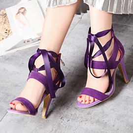 Ericdress Charming Cross Strap Open Toe Stiletto Sandals