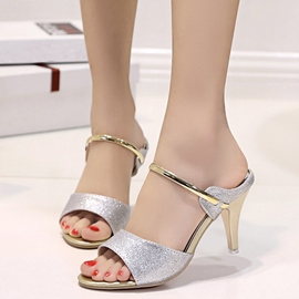 Ericdress Fashion Sequins Open Toe Mules Shoes