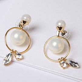 Ericdress Pearl Circle Hollow Design Women's Earrings