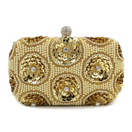 Ericdress Shiny Sequins Pearl Decorated Evening Clutch