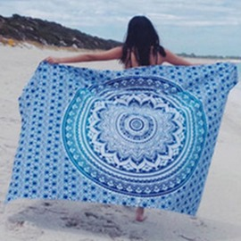 Ericdress Gradient Round Pattern Square Beach Blanket