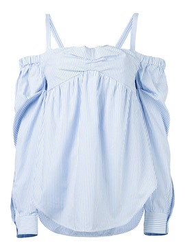 Ericdress Stripped Suspenders Blouse
