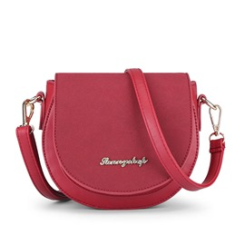 Ericdress Stylish Pure Color Saddle Crossbody Bag
