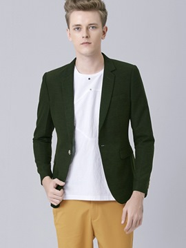Ericdress One Button Stylish Plain Slim Men's Blazer