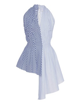 Ericdress Asymmetric Striped Halter Vest