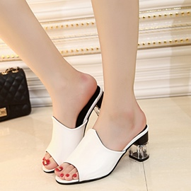 Ericdress Delicate Peep Toe Mules Shoes