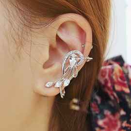 Ericdress Harp Flowers Design Rhinestone Inlaid Ear Cuff