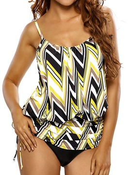 Ericdress Casual Stripe Color Block Swimwear