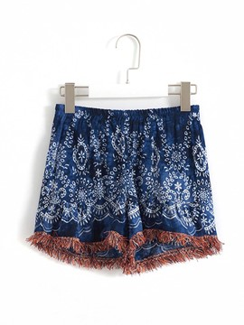 Ericdress Ethnic Tassel Print Girls Shorts