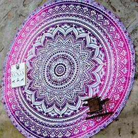 Ericdress Exquisite Tribal Print Round Beach Blanket