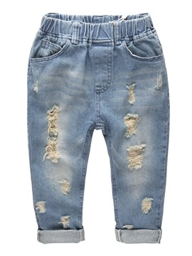 Ericdress Worn Hole Elastics Boys Jeans