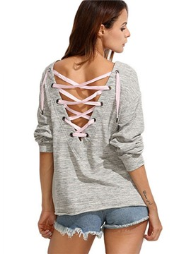 Ericdress Casual Backless Hoodie