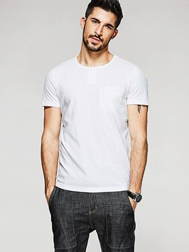 Ericdress White Short Sleeve Quality Men's T-Shirt