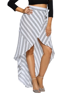 Ericdress High Waisted Striped Women's Skirts