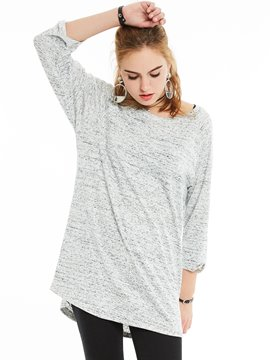Ericdress Slim Round Neck Mottled T-shirt