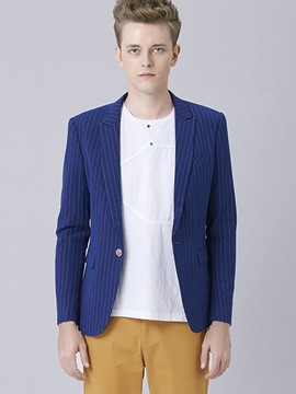 Ericdress Plain Stripe One Button Vogue Casual Men's Blazer