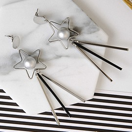 Ericdress Alloy Star Tassels Long Pendant Earrings