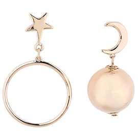 Ericdress Asymmetric Personality Star & Moon & Geometry Earrings