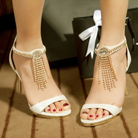 Ericdress Stylish Tassels Open Toe Stiletto Sandals