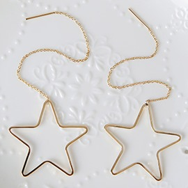 Ericdress Simple Long Star Design Alloy Earrings
