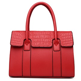 Ericdress Crocodile Grain Platinum Handbag