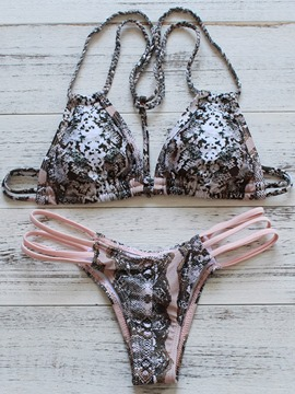 Ericdress Fancy Knitting Snake Print Bikini Set