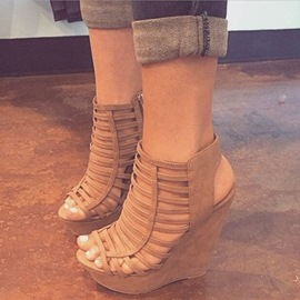 Ericdress Camel Cut Out Stiletto Sandals
