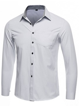 Ericdress Solid Color Single-Breasted Quality Men's Shirt
