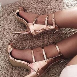 Ericdress Stylish Strappy Back Zipper Stiletto Sandals