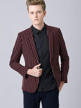 Ericdress Vintage Stripe Slim Men's Blazer