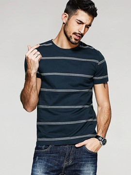 Ericdress Stripe Short Sleeve Quality Slim Men's T-Shirt