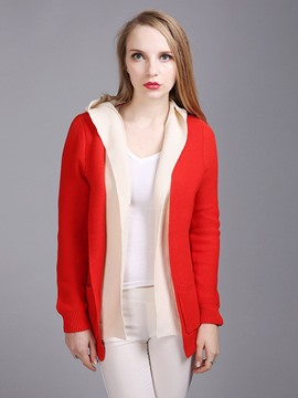 Ericdress Color Block Stylish Cardigan Knitwear
