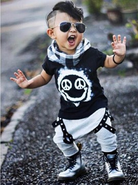 Ericdress Patchwork Summer Fashionable Boys Outfit