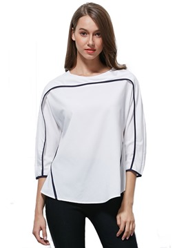 Ericdress Plain Three-Quarter Sleeve T-Shirt