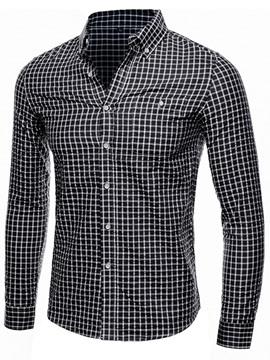 Ericdress Casual Style Plaid Long Sleeve Men's Shirt
