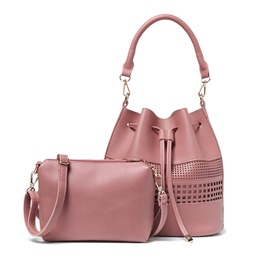 Ericdress All Match Hollow Bucket Handbags(2 Bags)