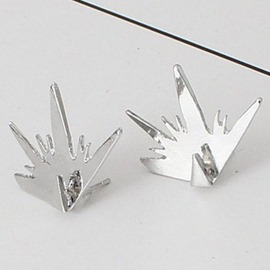 Ericdress E-Plating Personality Triangle Stud Earrings