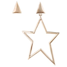 Ericdress Golden Five-Pointed Star Design Exaggerated Earrings