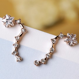Ericdress Big Dipper Diamante Design Classic Earrings
