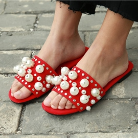 Ericdress All Match Pearl Mules Shoes