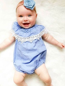 Ericdress Lace Sleeveless Baby Girls Bodysuit