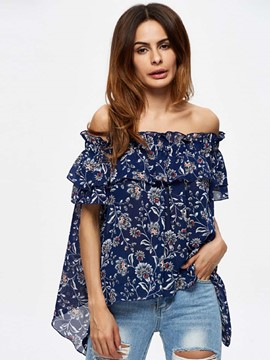 Ericdress European Loose Floral Printed Blouse