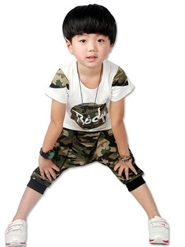 Ericdress Camouflage T-Shirt & Pants Summer Boys Outfit