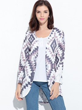 Ericdress Geometric Pattern Cardigan T-Shirt