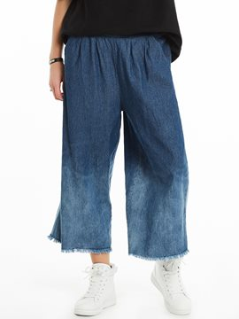 Loose Ankle Length Wide Legs Pants