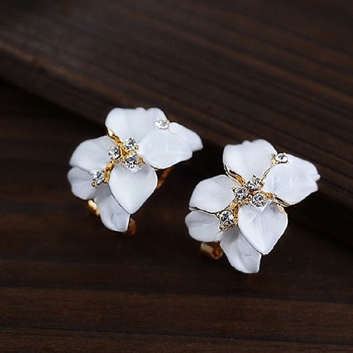 Ericdress Sweet Pure Gardenia Earrings(Price For A Pair)