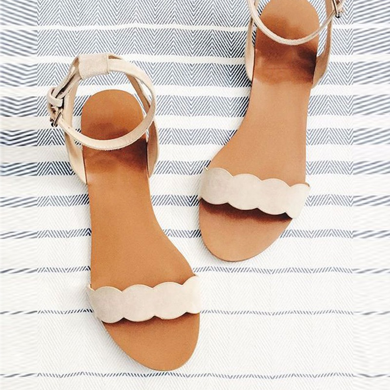 Ericdress_New_Simple_Nude_Flat_Sandals